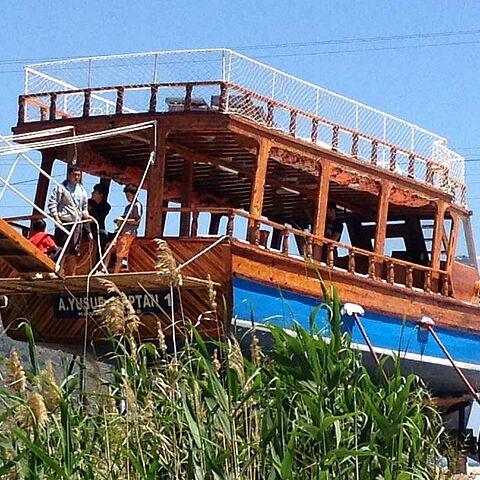 Boot auf Landgang