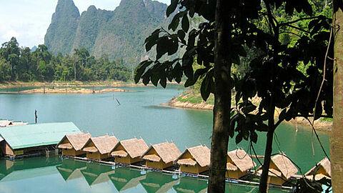 Blick auf unsere Bungalows im Jungleyoga Retreat, Thailand
