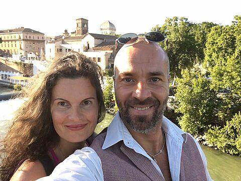 Irina und Valentin in Rom